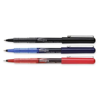 Integra Liquid Ink Rollerball Pen, Black Barrel