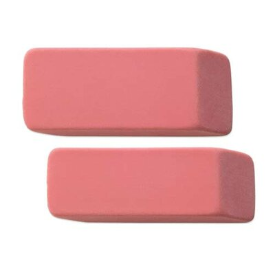 Integra Pink Pencil Erasers, Beveled End