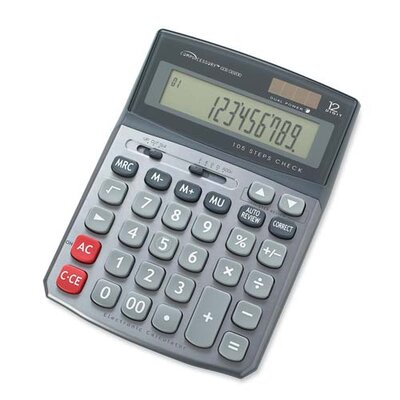 Compucessory Compucessory 12-Digit Large Display Calculator, Gray