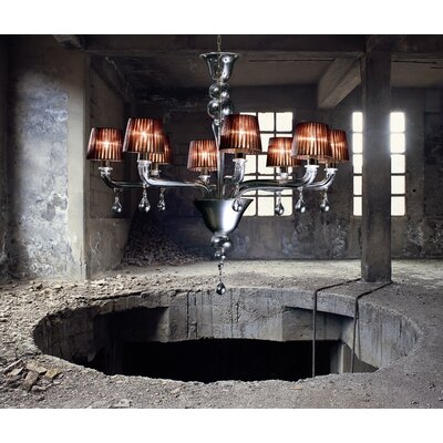 Vintage Agata 8 Light Chandelier
