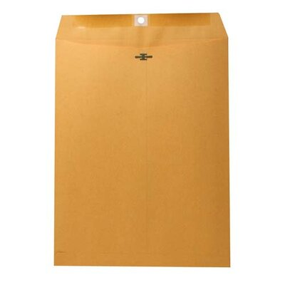 "Nature Saver Recycled Clasp Envelopes, Kraft, 10""x13"", 28Lb, 100 per Box"