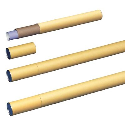 "Nature Saver Mailing Tubes, Yellow kraft, Brown, 2-1/2""Diameter x 25""L"