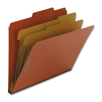 Nature Saver Classification Folders, Legal, 2 Partitions, 10/BX, Red