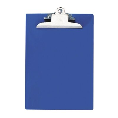 "Nature Saver Recycled Plastic Clipboards, 1"" Capacity, Blue"