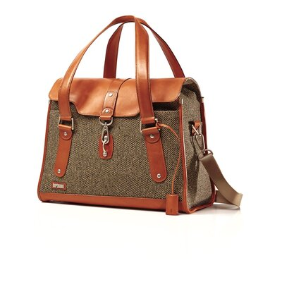 Hartmann Tweed Belting Leather Carriage Briefcase