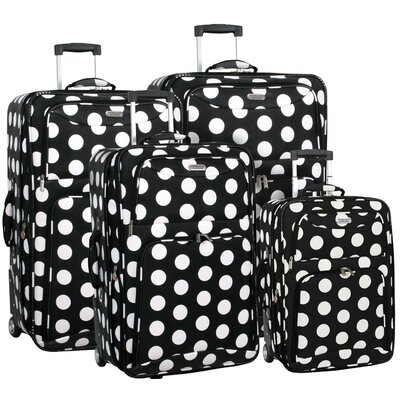 Overland Travelware Polka Dot 4 Piece Luggage Set