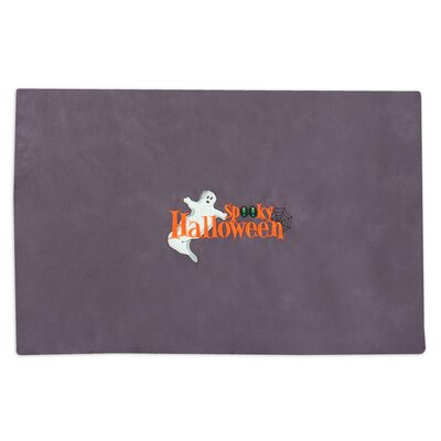 Passion Suede Embroidered Spooky Placemat