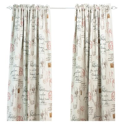 Chooty & Co Postale Cotton Rod Pocket Curtain Single Panel