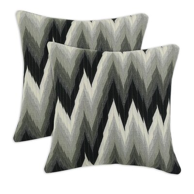 Chooty & Co Coram Ebony Fiber Pillow (Set of 2)
