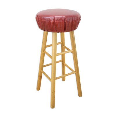 Chooty & Co Round Faux Leather Foam Bar Stool Cushion
