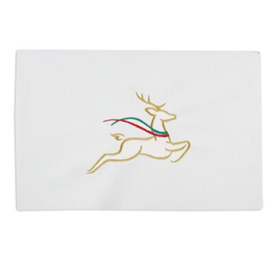 "Chooty & Co Hondo Embroidered ""Reindeer"" Placemat"