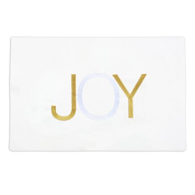 "Chooty & Co Hondo Embroidered ""Joy"" Placemat"