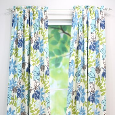 Chooty & Co Monaco Breeze Cotton Rod Pocket Curtain Single Panel
