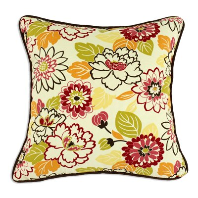 Chooty & Co Maya Poppy Corded Cotton Pillow