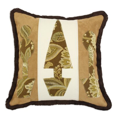 Passion Suede Topiaries Fringed Polyester Pillow