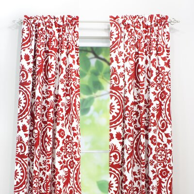 Chooty & Co Suzani Rod Pocket Curtain Single Panel