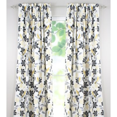 Small Talk Cotton Rod Pocket Curtain Panel