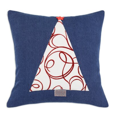Chooty & Co Denim Joker Scarlet Tree Pillow