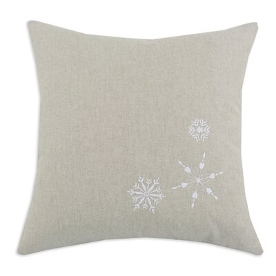 Chooty & Co Linen Natural 3 Embroidered Snowflake Pillow