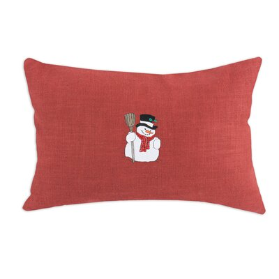 Circa Solid Embroidered Snowman Pillow