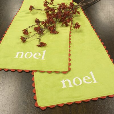 "Chooty & Co Passion Suede ""Noel"" Table Runner"