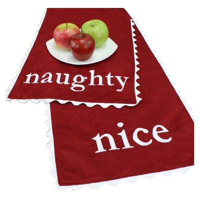"Chooty & Co Passion Suede ""Naughty-Nice"" Table Runner"