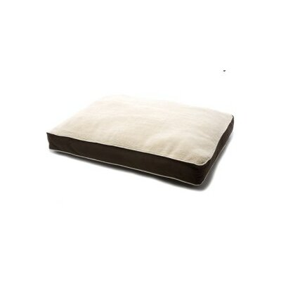 Dog Gone Smart Sherpa Rectangular Dog Bed with Ecru Piping