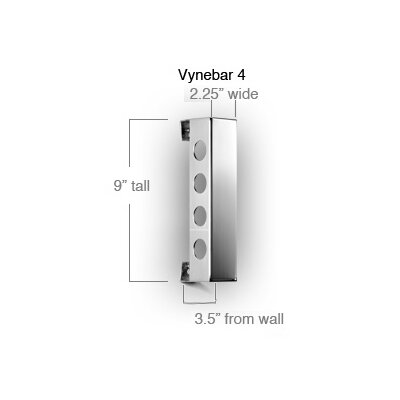 Vynebar 4 Bottle Wall Mounted Wine Rack