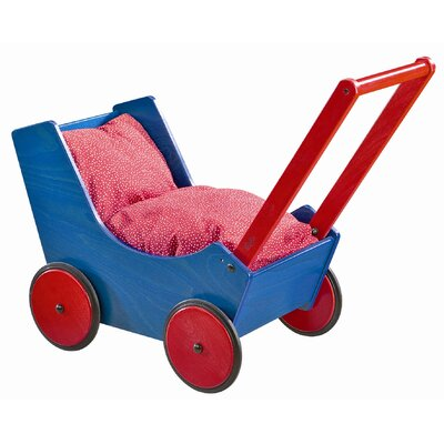 Haba Doll Pram In Red / Blue