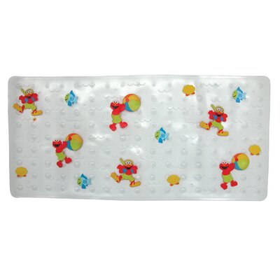 Ginsey Sesame Street Elmo Dimensional Vinyl Bath Mat - Splish Splash