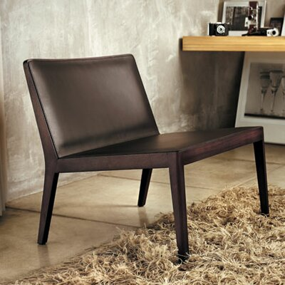 Luxo by Modloft Frith Leather Slipper Chair