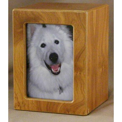 Star Legacy Funeral Network Medium Photo Pet Urn in Natural