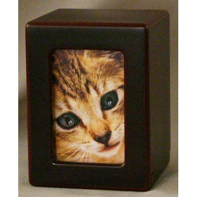 Star Legacy Funeral Network Extra Small Photo Pet Urn in Cherry