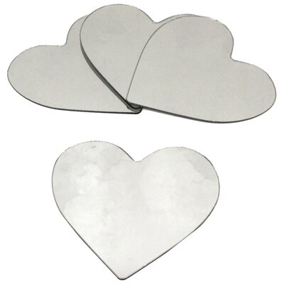 Room Mates Wall Mirrors Heart Peel and Stick Small Decal