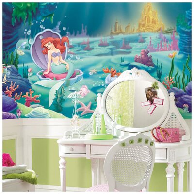 Room Mates XL Murals Littlest Mermaid Chair Rail Wall Decal