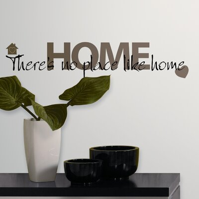 Room Mates No Place Like Home Peel and Stick Wall Decal