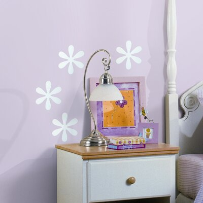 Room Mates 4 Piece Flower Small Peel and Stick Mirror Set