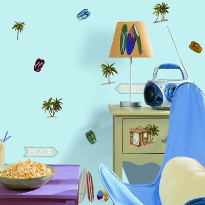 Room Mates Studio Designs 24 Piece Surf's Up Wall Decal Set