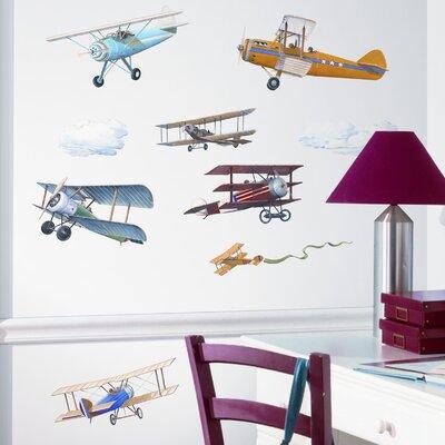 Room Mates Studio Designs 22 Piece Vintage Planes Wall Decal Set