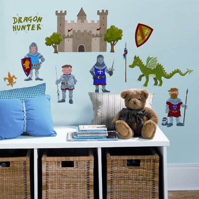 Room Mates Studio Designs 24 Piece Dragon Hunter Wall Decal Set
