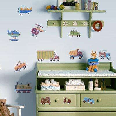 Room Mates Studio Designs 26 Piece Transportation Wall Decal Set