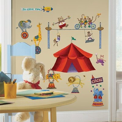 Room Mates Studio Designs 33 Piece Big Top Circus Wall Decal Set