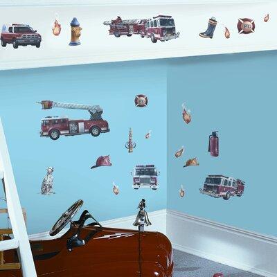 Room Mates Studio Designs 22 Piece Fire Brigade Wall Decal Set