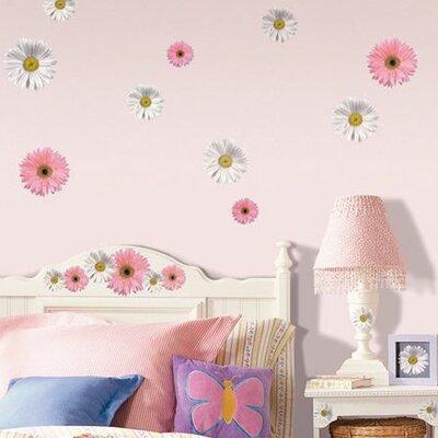 Room Mates Studio Designs 24 Piece Flower Power Wall Decal Set