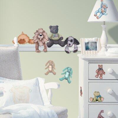 Room Mates Studio Designs 23 Piece Cuddle Buddies Wall Decal Set
