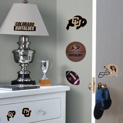 Room Mates Collegiate Sports 24 Piece Appliqué University of Colorado Wall Decal Set