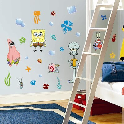 Room Mates Favorite Characters 30-Piece Nickelodeon SpongeBob SquarePants Window Sticker