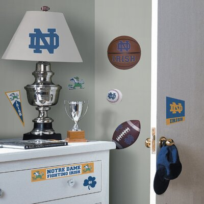Room Mates Collegiate Sports 29 Piece Appliqué Notre Dame Fighting Irish Wall Decal Set