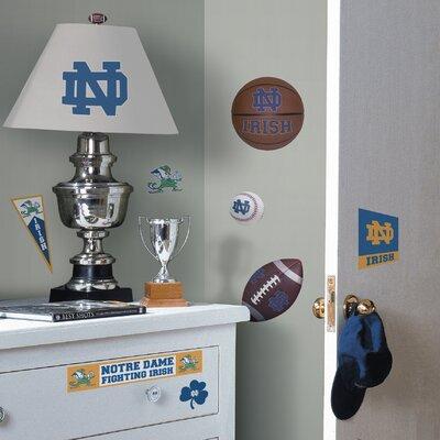 Room Mates Collegiate Sports 29 Piece Appliqué Notre Dame Fighting Irish Wall Decal Set