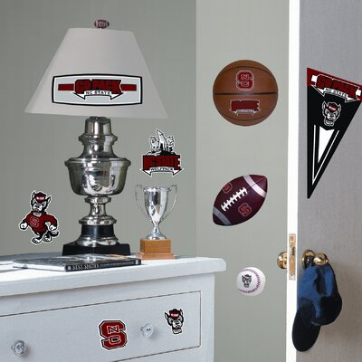 Room Mates Collegiate Sports 24 Piece Appliqué North Carolina State University Wall Decal Set